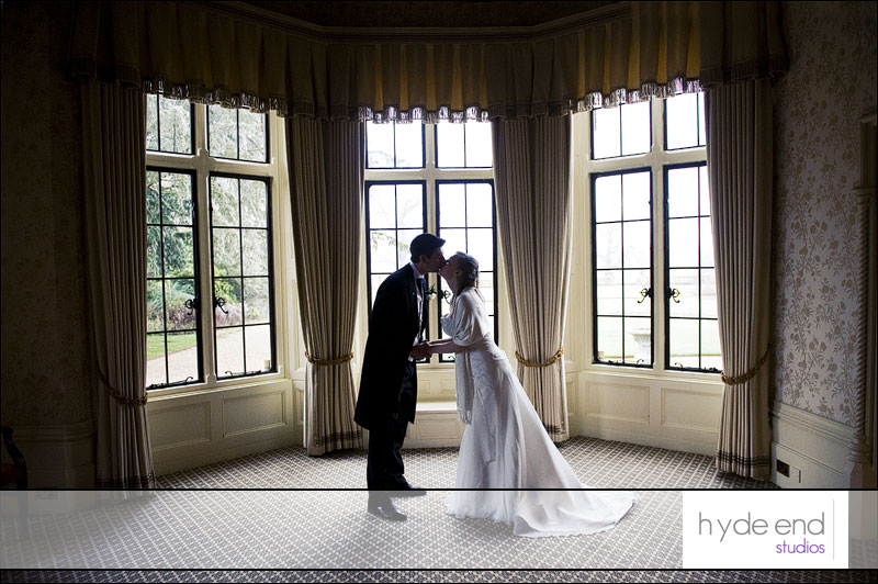 bride and groom portrait photo at the elvetham